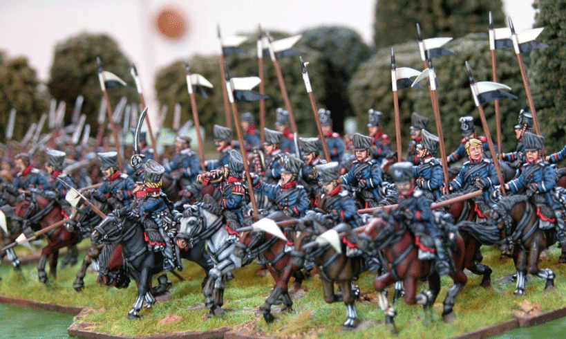 Landwehr cavalry painted by Martin Robson