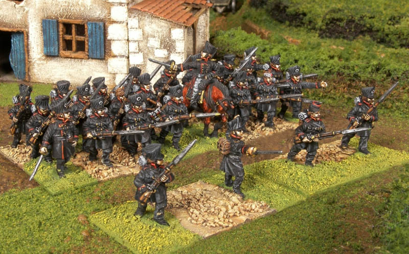 Partizan 2007 Plancenoit demo game, picture #8, painted by Steve Maughan.
