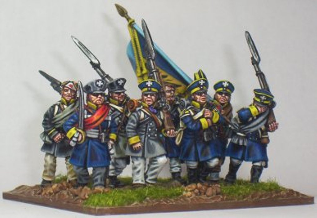 Silesian Landwehr infantry painted by Martin Kelly