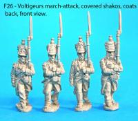 F26  Four voltigeurs in march-attack poses