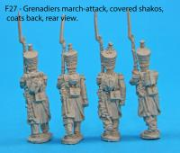 F27  Four grenadiers in march-attack poses