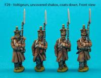 F29  Four voltigeurs in march-attack poses
