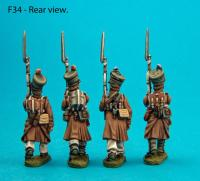 F34 Four centre company figures with heads turned