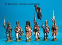 F40 Regimental command, uncovered shakos