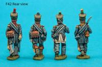 F42 – Foot officers in uncovered shakos.