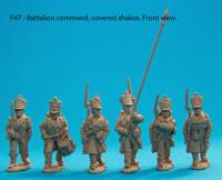 F47 – Battalion command in covered shakos.