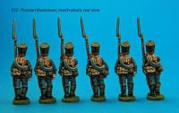 P22 Six Prussian musketeers in march-attack poses