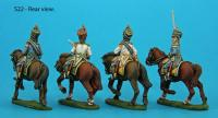 S22 - S22 Four mounted musketeer officers