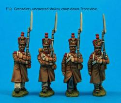 F30  Four grenadiers in march-attack poses.