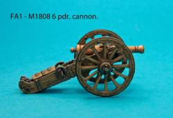 FA1 M1808 6pdr. French cannon