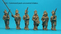 S16 - Command pack, uncovered shakos.