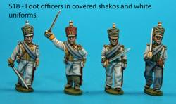 S18 - Foot officers with covered shakos, white uniforms.