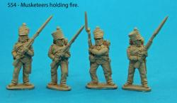 S54 – Four Saxon musketeers holding fire.