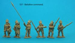 S57 – Six figures. Standard bearer and two NCO guards. Sapper, drummer and senior NCO.