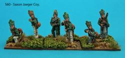 S60 – Saxon Jaeger coy. Six figures in skirmish poses.