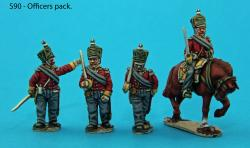 S90 - Saxon Guard Grenadiers in advancing poses. Officers pack.