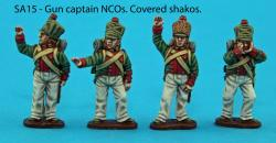 SA15 - NCO gun captain pack covered shakos