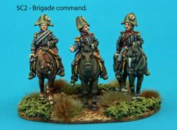 SC2 - Brigade command. Commanding colonel, adjoint, ADC