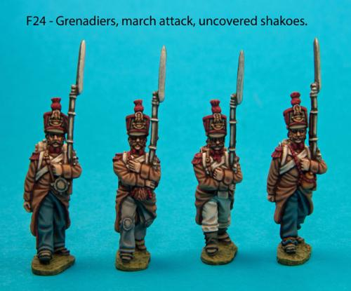 F24  Four grenadiers in march-attack poses