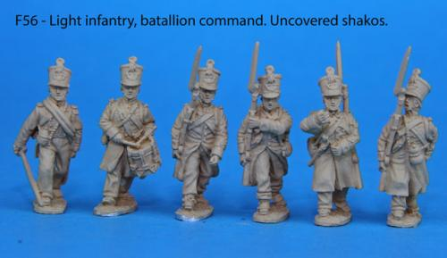 F56 – Light infantry battalion command in uncovered shakos