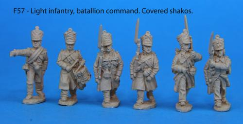 F57 – Light infantry battalion command in covered shakos