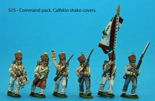 S15 - Command pack, calfskin shako covers.