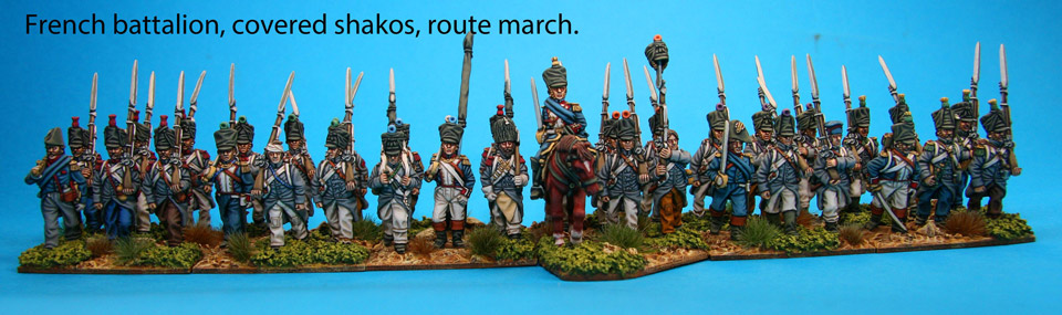 French Route March Covered Shakos