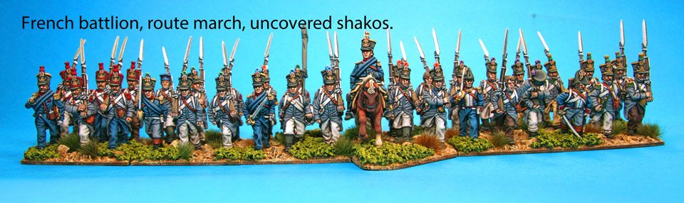 French Route March Uncovered Shakos