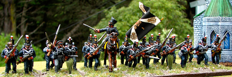Reserve infantry painted by Peter Haldezos